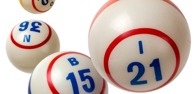 Used Bingo Balls isolated on white background