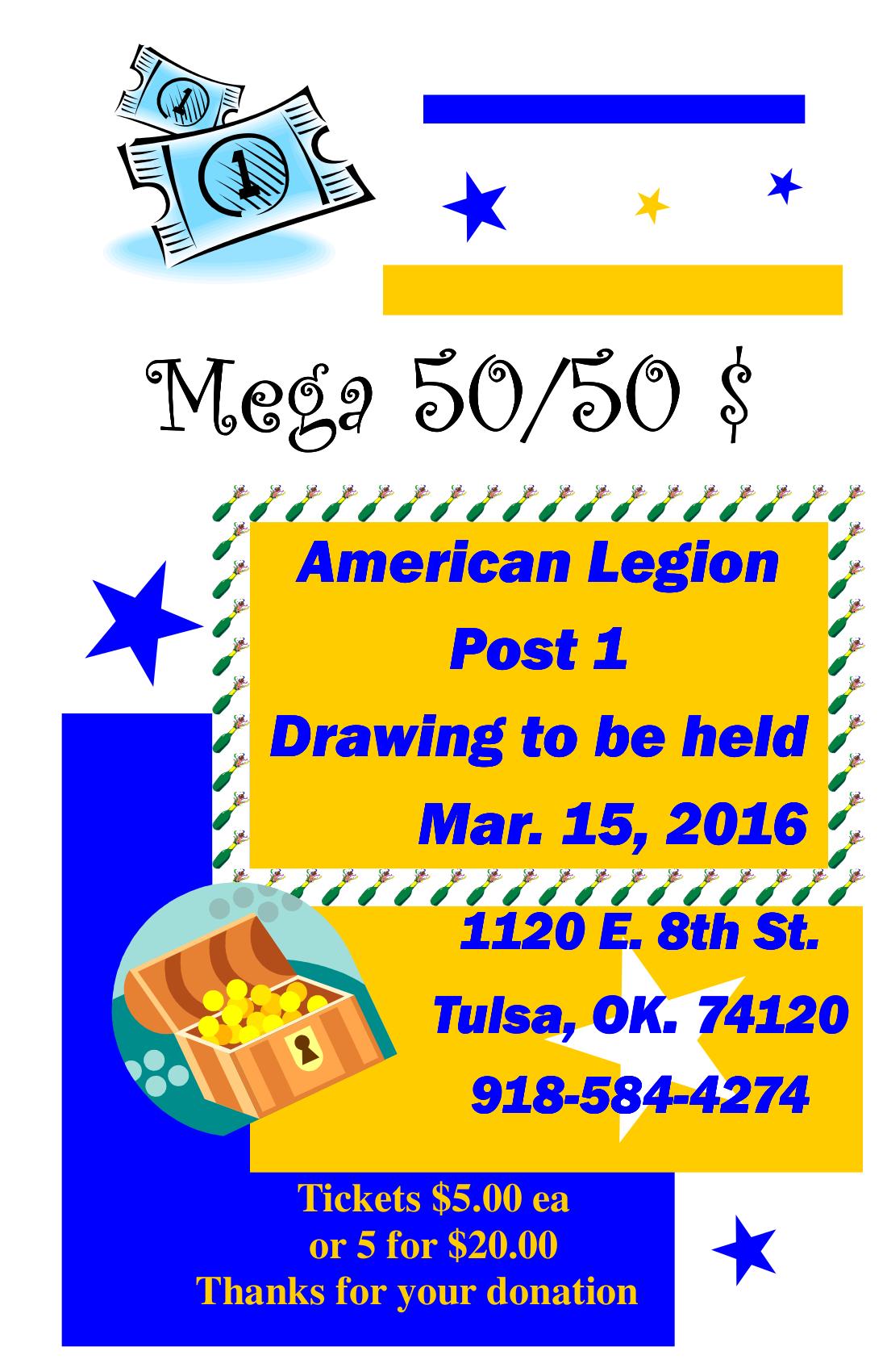 MEGA 50/50 $$$