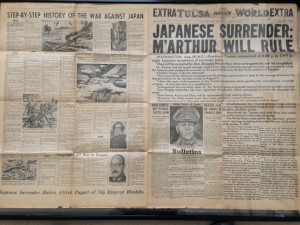 Tulsa World Extra August 15, 1945