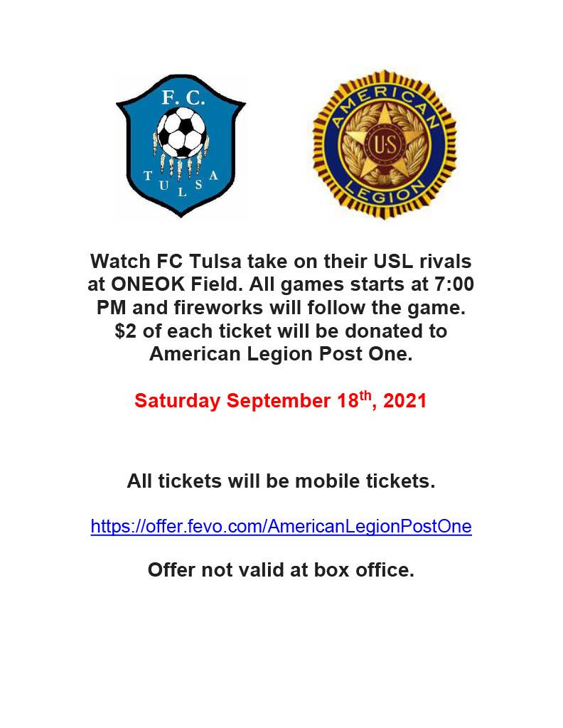 FC Tulsa Soccer Game – September 18, 2021